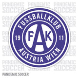 FK Austria Wien Vienna Vinyl Sticker Decal - Pandemic Soccer