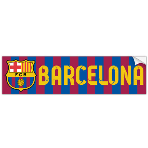 FC Barcelona Spain Bumper Sticker Calcomonia Pegatina - Pandemic Soccer