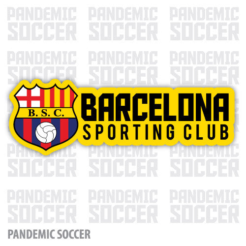 Barcelona Sc Ecuador Vinyl Sticker Decal Calcomania Pandemic Soccer