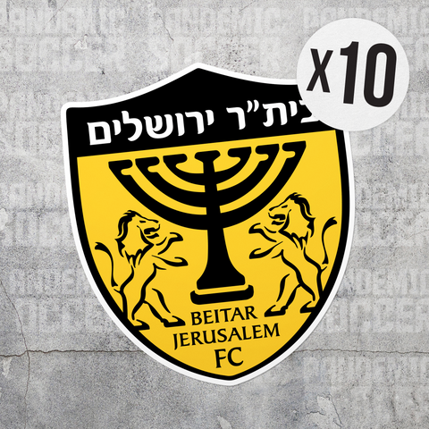 Beitar Jerusalem FC Israel Vinyl Sticker Decal Pack - 10 Stickers - Pandemic Soccer