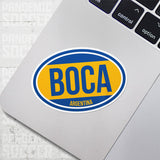 Boca Juniors Argentina Oval Vinyl Sticker - Pandemic Soccer