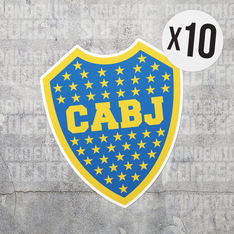 Boca Juniors Argentina Vinyl Sticker Decal Pack - 10 Stickers - Pandemic Soccer