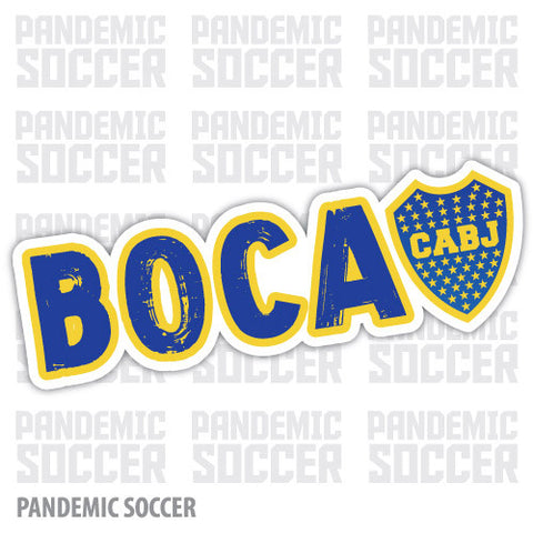Boca Juniors Argentina Vinyl Sticker Decal Calcomania - Pandemic Soccer