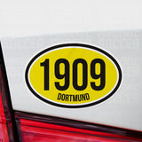Borussia Dortmund Germany Oval Vinyl Sticker - Pandemic Soccer