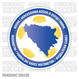 Bosnia National Soccer Team Vinyl Sticker Decal - Pandemic Soccer