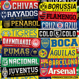 Colo Colo Chile Bumper Sticker Decal Calcomania - Pandemic Soccer