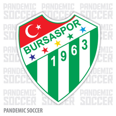 Bursaspor Bursa Turkey Vinyl Sticker Decal - Pandemic Soccer