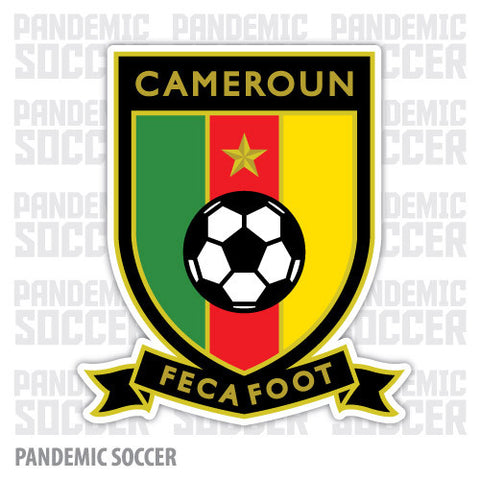 Cameroon National Soccer Lions Vinyl Sticker Decal - Pandemic Soccer