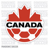 Canada National Soccer Team Canucks Vinyl Sticker Decal - Pandemic Soccer