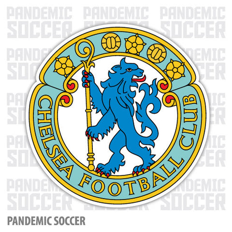 Chelsea FC Retro England Color Vinyl Sticker Decal - Pandemic Soccer