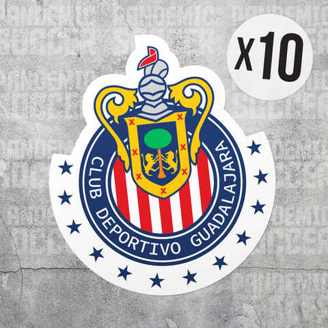 Chivas Guadalajara Mexico Vinyl Sticker Decal Pack - 10 Stickers - Pandemic Soccer