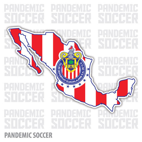 Chivas Rayadas Mexico Vinyl Sticker Decal Calcomania - Pandemic Soccer