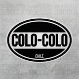 Colo Colo Chile Oval Vinyl Sticker - Pandemic Soccer
