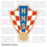 Croatia National Soccer Vinyl Sticker Decal - Pandemic Soccer