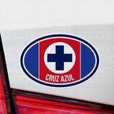Cruz Azul Mexico Oval Vinyl Sticker - Pandemic Soccer