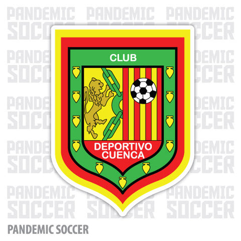Deportivo Cuenca Ecuador Vinyl Sticker Decal Calcomania - Pandemic Soccer