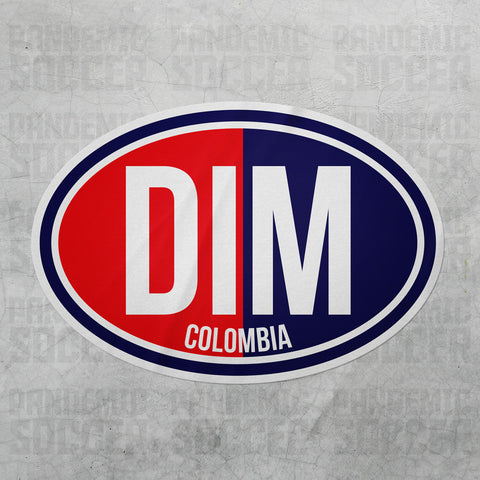 Deportivo Independiente Medellin Colombia Oval Vinyl Sticker - Pandemic Soccer