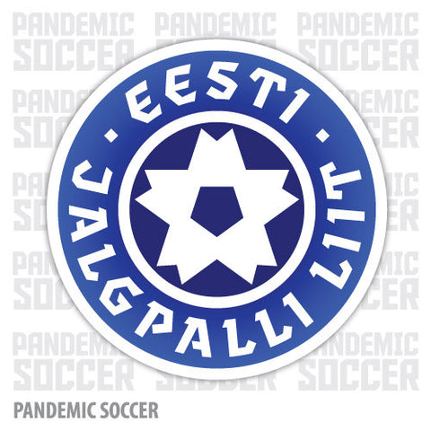 Estonia National Soccer Team Vinyl Sticker Decal - Pandemic Soccer