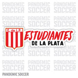 Estudiantes La Plata Argentina Vinyl Sticker Decal Calcomania - Pandemic Soccer