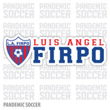 Luis Angel Firpo El Salvador Vinyl Sticker Decal Calcomania - Pandemic Soccer