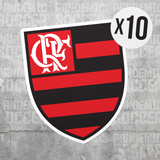 Flamengo Clube Rio Brazil Vinyl Sticker Decal Pack - 10 Stickers - Pandemic Soccer