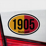 Galatasaray Turkey Oval Vinyl Sticker - Pandemic Soccer