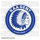 KAA Gent Belgium Vinyl Sticker Decal - Pandemic Soccer