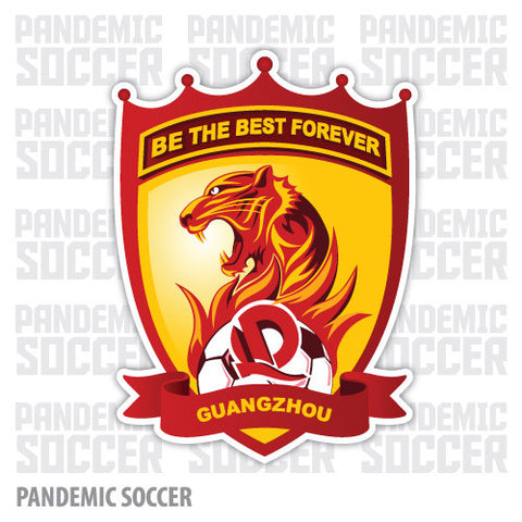 Guangzhou Evergrande FC China Vinyl Sticker Decal - Pandemic Soccer