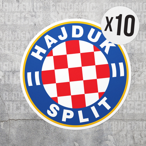 Hajduk Split Croatia Vinyl Sticker Decal Pack - 10 Stickers - Pandemic Soccer