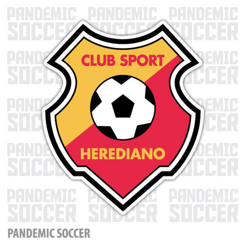 Herediano Heredia Costa Riva Vinyl Sticker Decal Calcomania - Pandemic Soccer