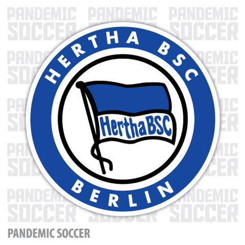 Hertha Berlin Germany Vinyl Sticker Decal - Pandemic Soccer