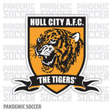 Hull City FC Tigers England Vinyl Sticker Decal - Pandemic Soccer