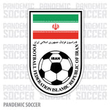 Iran National Soccer Team Vinyl Sticker Decal - Pandemic Soccer