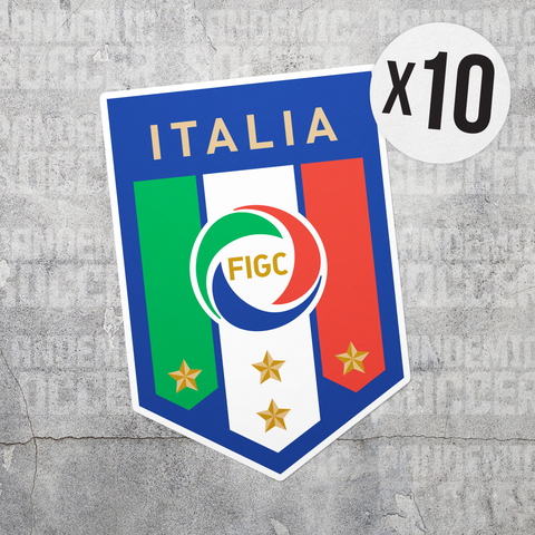 Italy National Team Azzurri Vinyl Sticker Decal Pack -10 Stickers - Pandemic Soccer