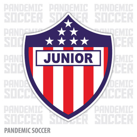 Junior Barranquilla Colombia Vinyl Sticker Decal Calcomania - Pandemic Soccer
