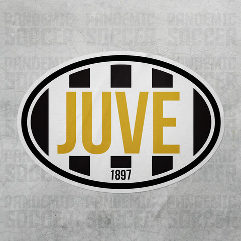 Juventus Italy Oval Vinyl Sticker - Pandemic Soccer
