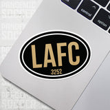 Los Angeles LAFC USA Oval Vinyl Sticker - Pandemic Soccer