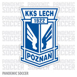 Lech Poznan Poland Vinyl Sticker Decal - Pandemic Soccer