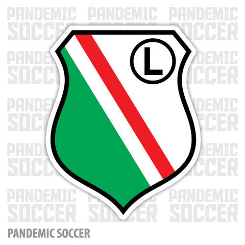 Legia Warsaw Poland Vinyl Sticker Decal - Pandemic Soccer