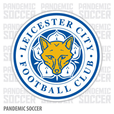 Leicester City FC England Color Vinyl Sticker Decal