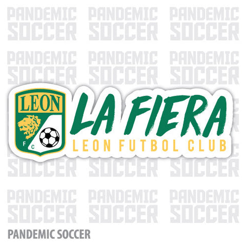 Club Leon Mexico Vinyl Sticker Decal Calcomania - Pandemic Soccer