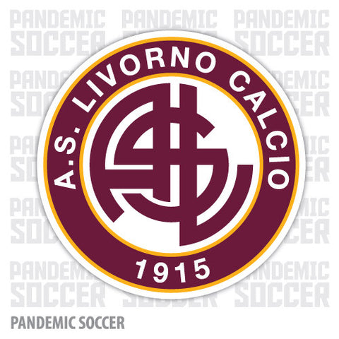 Livorno Calcio Italy Vinyl Sticker Decal - Pandemic Soccer