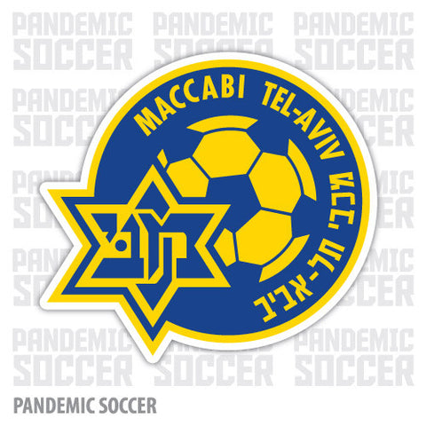 Maccabi Tel Aviv Israel Vinyl Sticker Decal - Pandemic Soccer