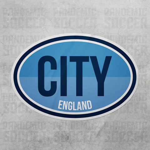 Manchester City England Oval Vinyl Sticker - Pandemic Soccer