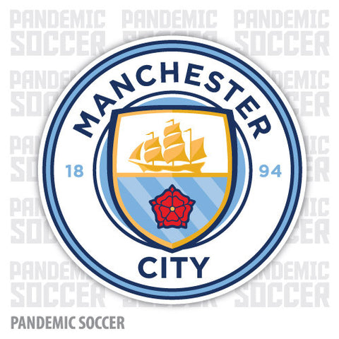 Manchester City FC England Color Vinyl Sticker Decal - Pandemic Soccer