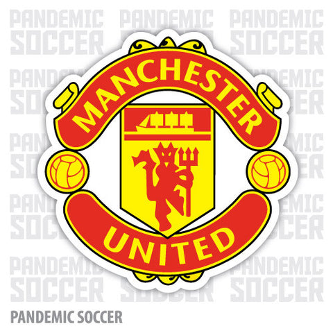 Manchester United FC Devils England Color Vinyl Sticker Decal