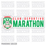 CD Marathon Honduras Vinyl Sticker Decal Calcomania - Pandemic Soccer