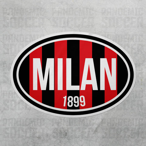 AC Milan Italy Oval Vinyl Sticker - Pandemic Soccer