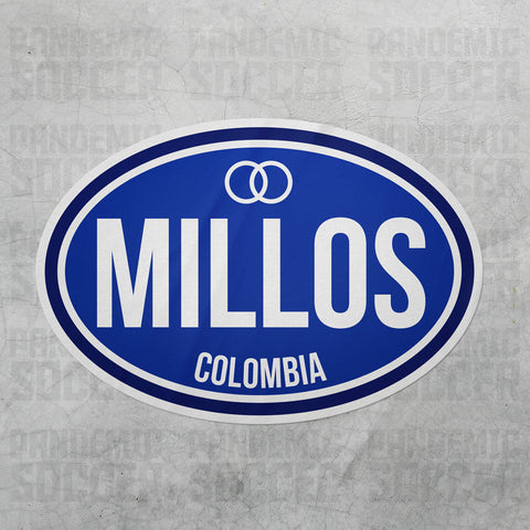 Millonarios FC Colombia Oval Vinyl Sticker - Pandemic Soccer