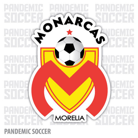 Monarcas Morelia Futbol Mexico Vinyl Sticker Decal Calcomania - Pandemic Soccer